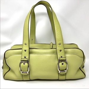 🆕 COLE HAAN lime green leather purse, NWOT